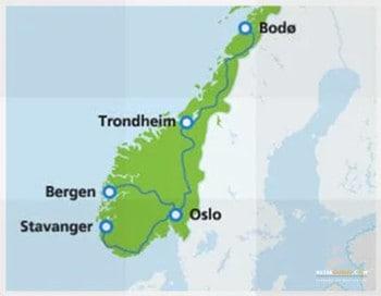 Nachtzugfahren in Norwegen