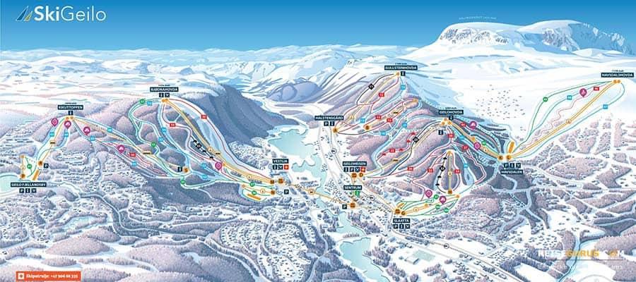 Skigebiet Geilo Norwegen
