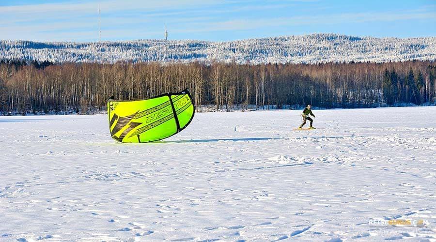 Snow-Kiting in Ski Geilo
