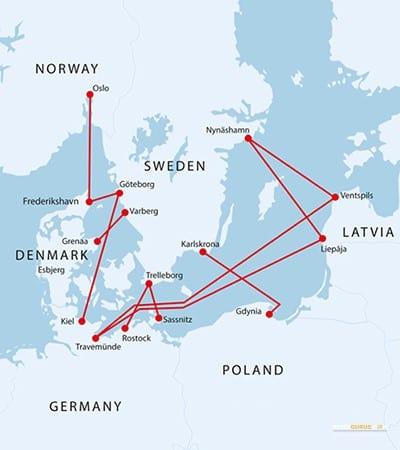 Fährverbindung nach Norwegen