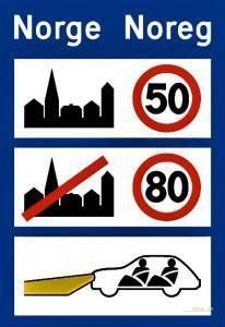 Verkehrsschilder-in-Norwegen