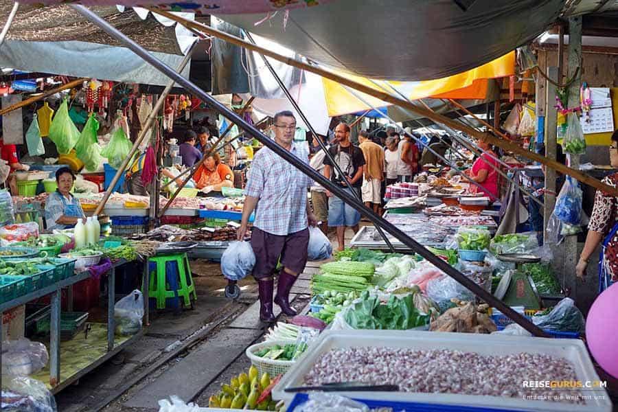 Maeklong Railway Market Food