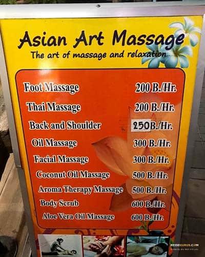 Preise-Pattaya-Massage