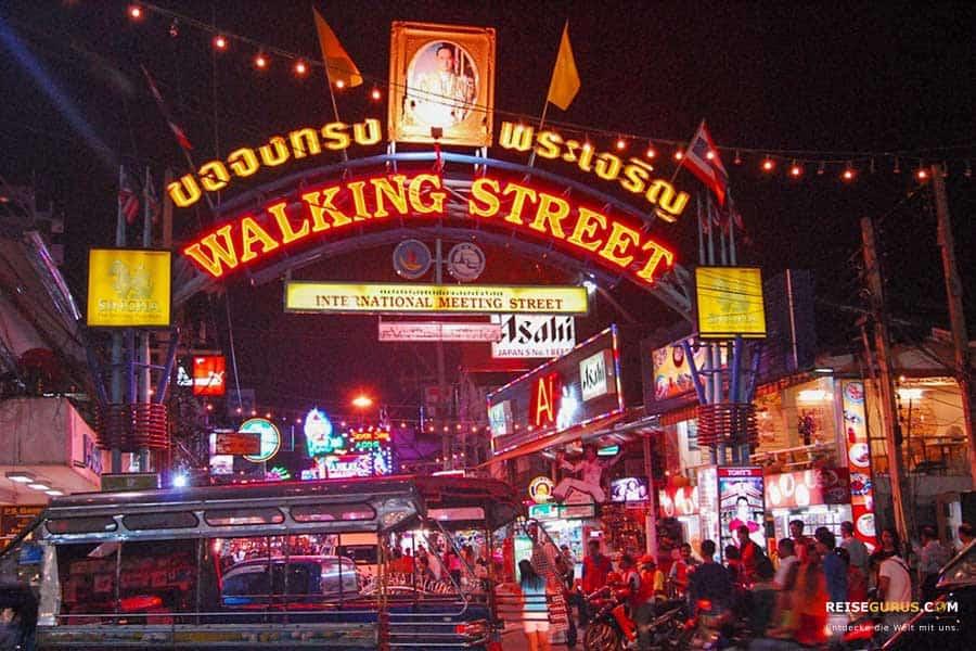 Rotlichtviertel Walking Street Pattaya