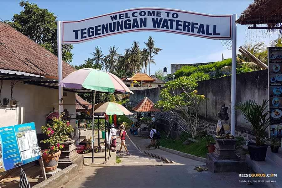 Eintrittspreis & Öffnungszeit am Tegenungan Wasserfall Balien