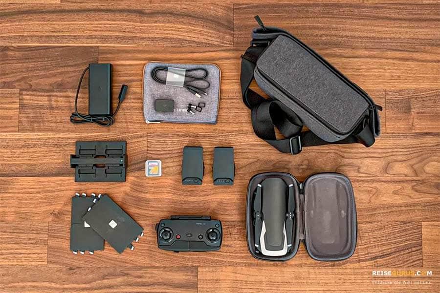 Fotoequipment auf Reisen Drohne