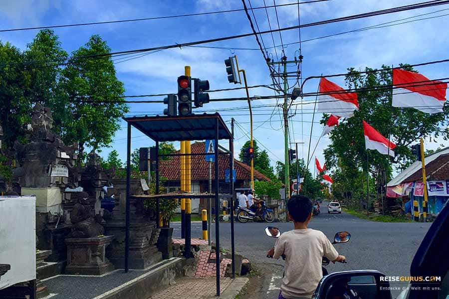Anreise zum Pura Tanah Lot Tempel auf Bali
