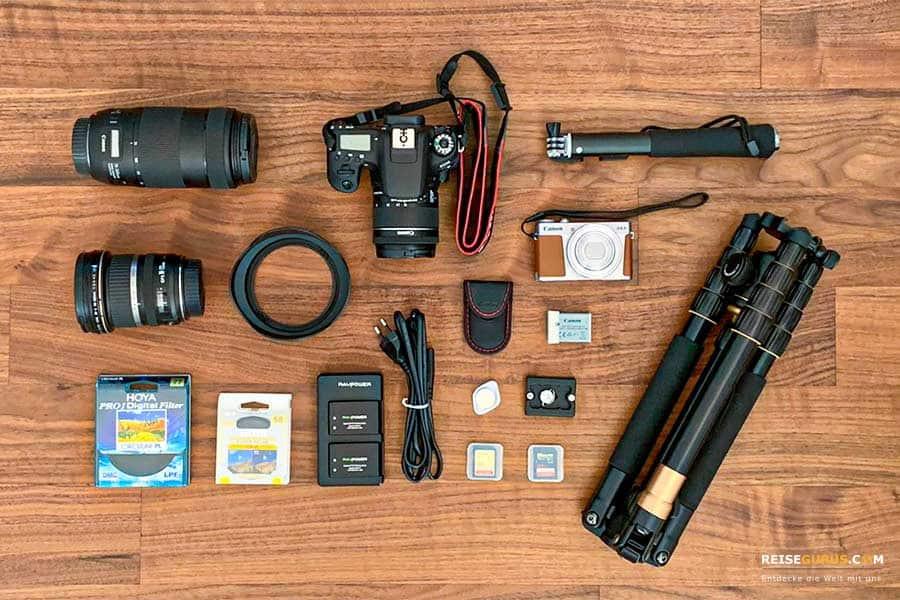 Fotoausrüstung im Urlaub