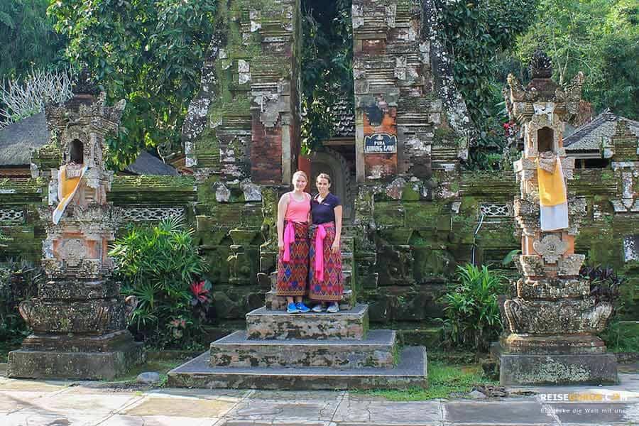 Tempel auf Bali Kleiderordnung
