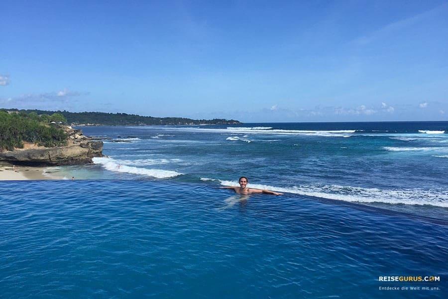 Strände auf Bali mit Pool