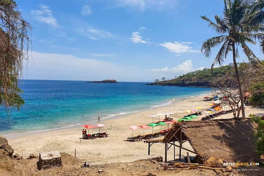 bester Strand auf Bali an der Ostküste