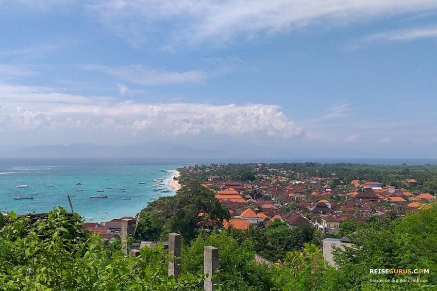 Nusa Lembongan Sehenswürdigkeiten Panorama Point Aussichtspunkt