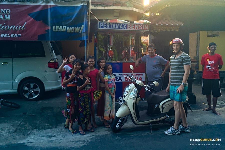 Unfall mit dem Roller auf Bali