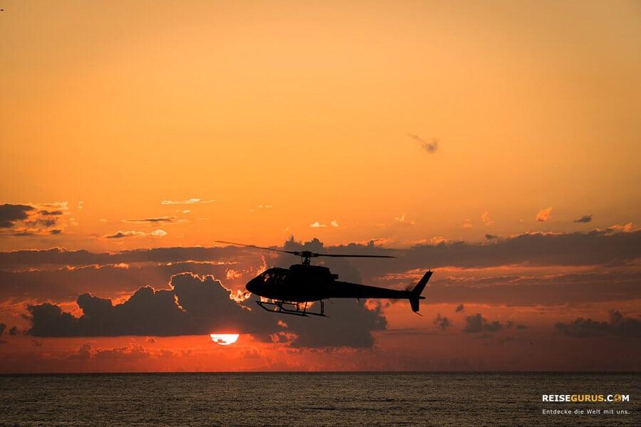 Gili Trawangan Hubschrauber