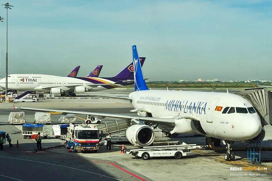 Sri Lanka Urlaub Anreise mit dem Flugzeug