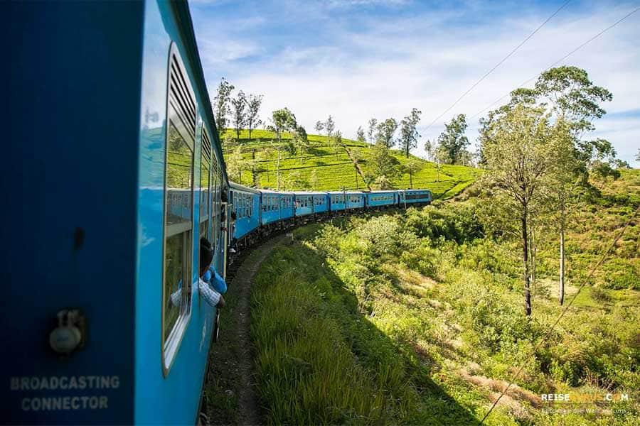 Sri Lanka Zugfahrt Hochregionen
