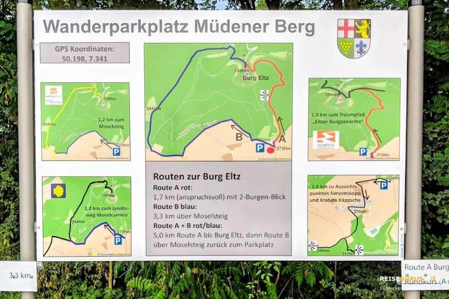 Burg Eltz Parkplätze
