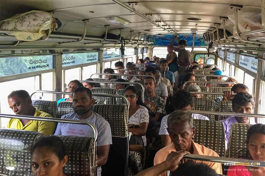 Busfahrt Galle Sri Lanka