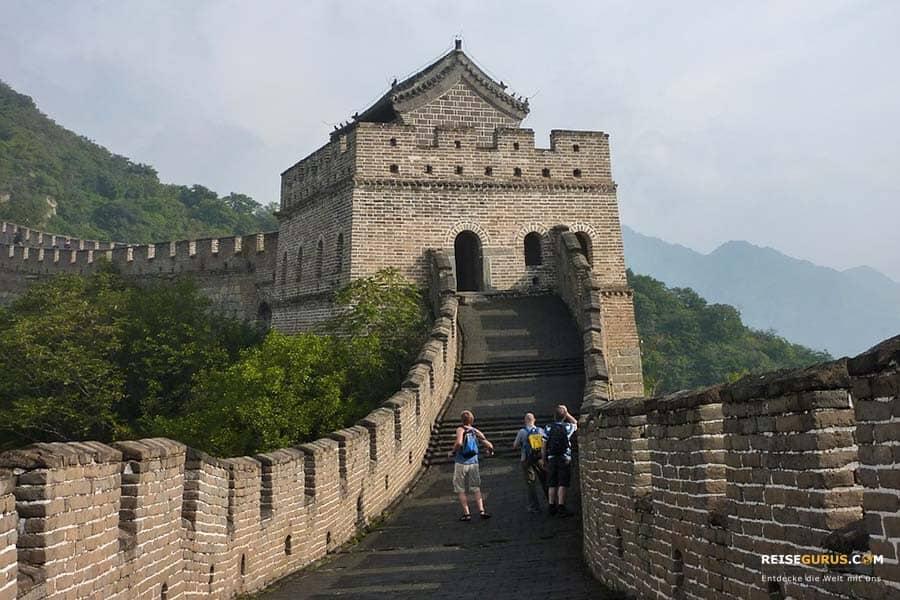 Chinesische Mauer bei Peking Anfahrt