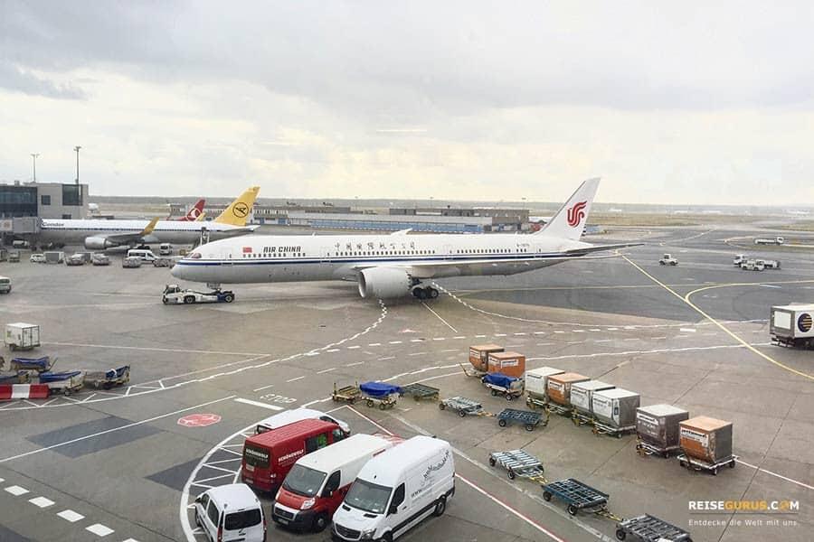 Flugverbindungen über Peking
