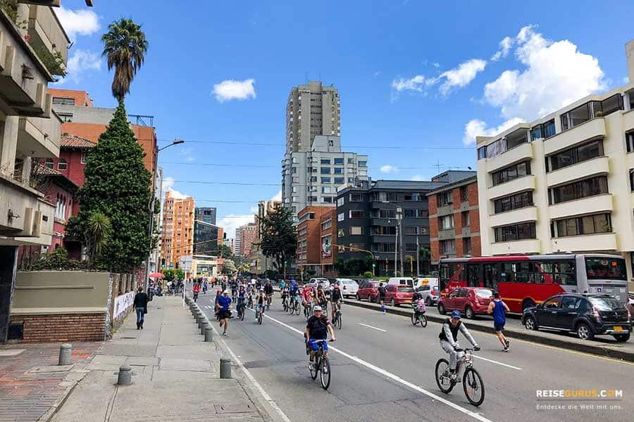 Bogota Fahrrad Sonntag