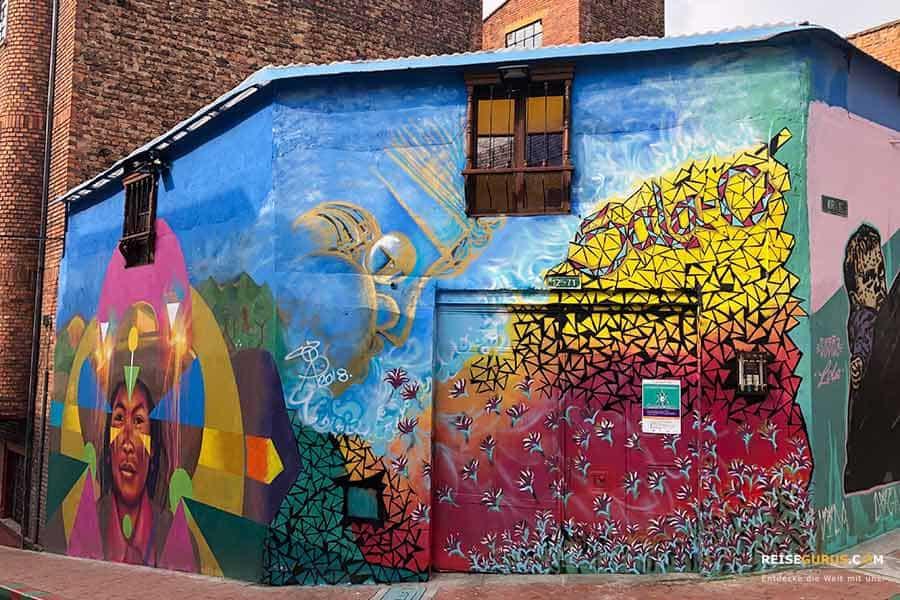 Streetart Bogotá auf eigene Faust