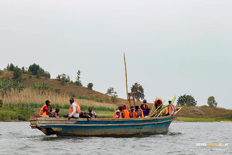 Kibuye Lake Kivu in Ruanda