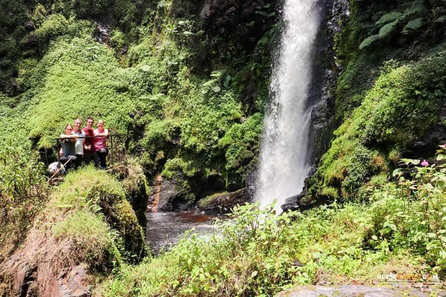 Wasserfall im Nyungwe Nationalpark Ruanda