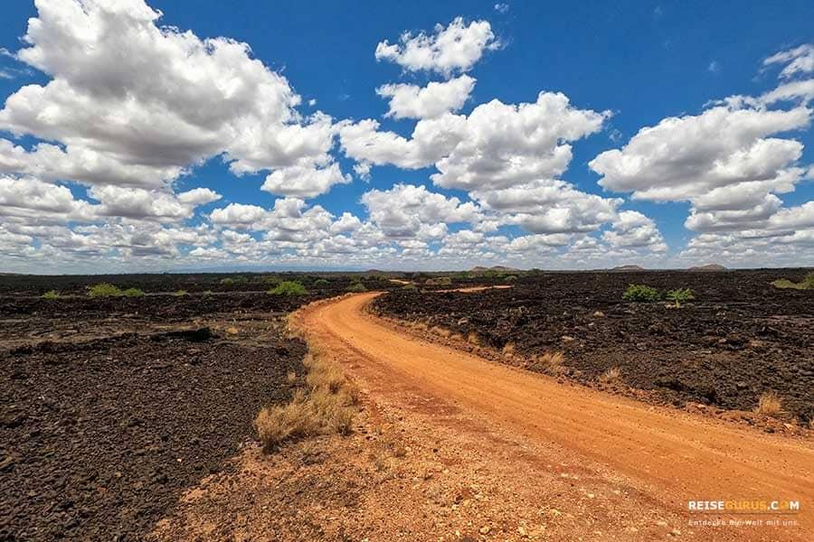 Lavafelder Tsavo West Nationalpark