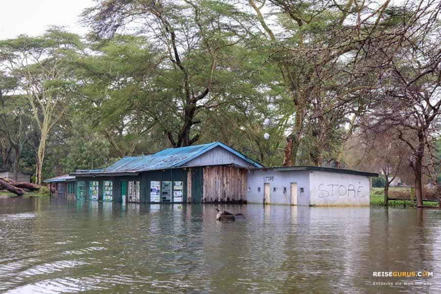 Lake Naivashaen Überschwemmungen