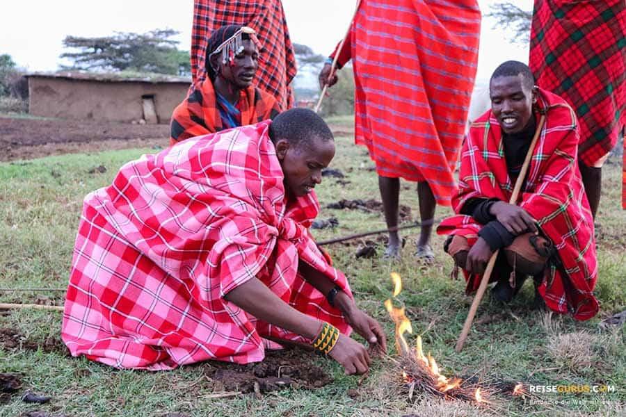 Massai Dörfer Kenia