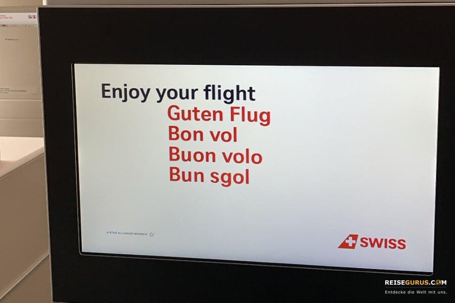 bequeme Flugreise