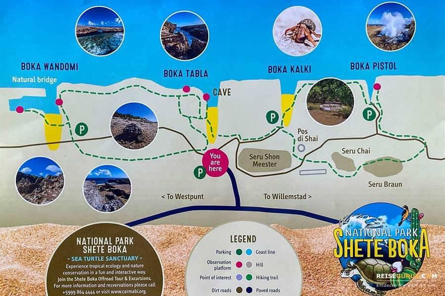 Shete Boka Nationalpark Wanderwege