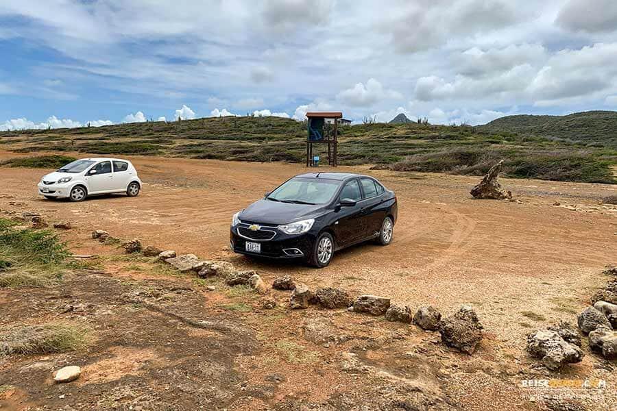 Auto im Shete Boka Nationalpark