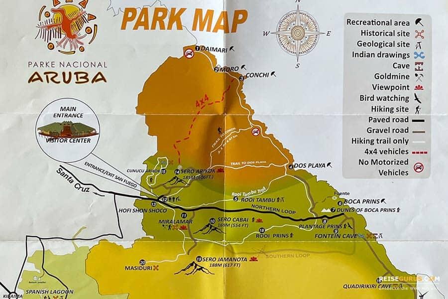 Wanderwege im Arikok Nationalpark