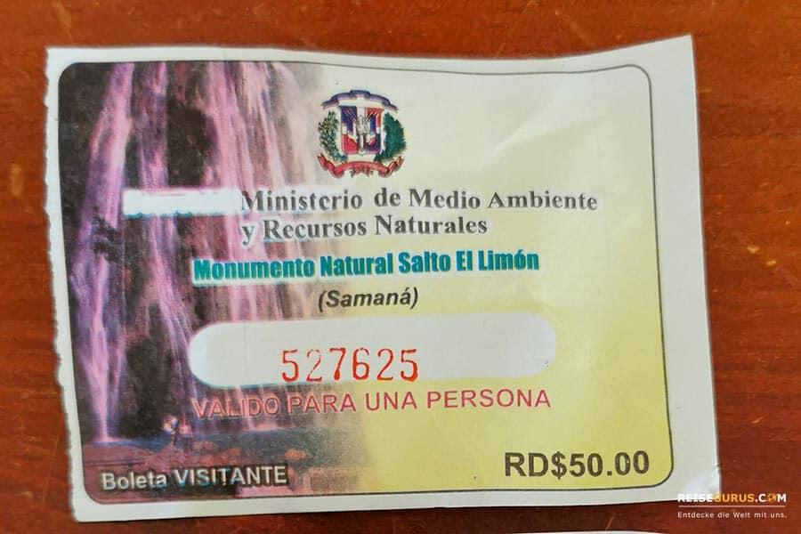 Salto El Limon Wasserfall Samana